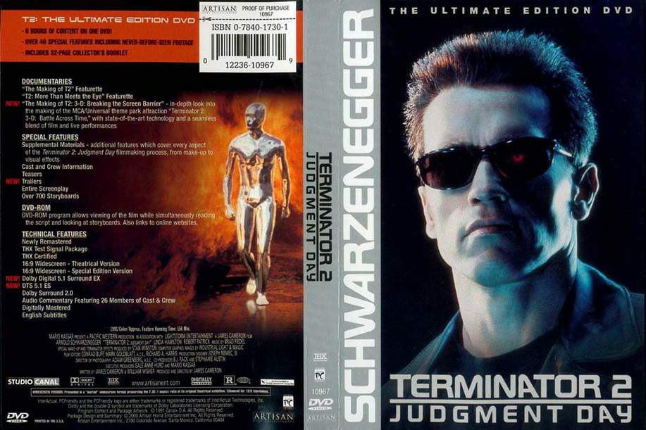 The Terminator Blu-Ray DVD Cover (1984) Custom German